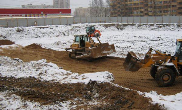 Устройство песчаной подушки под фундаментную плиту